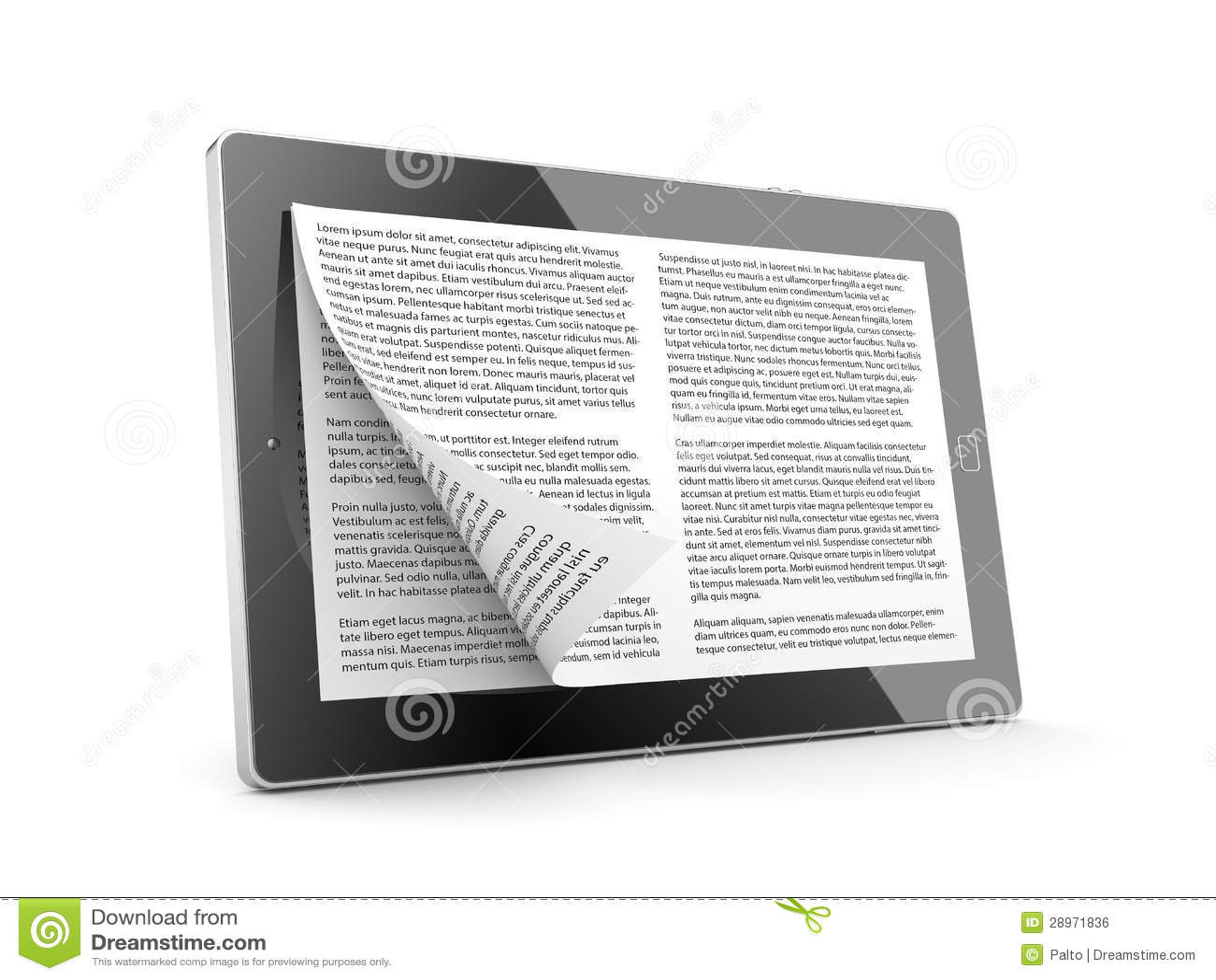 Pastylka komputer jako EBook
