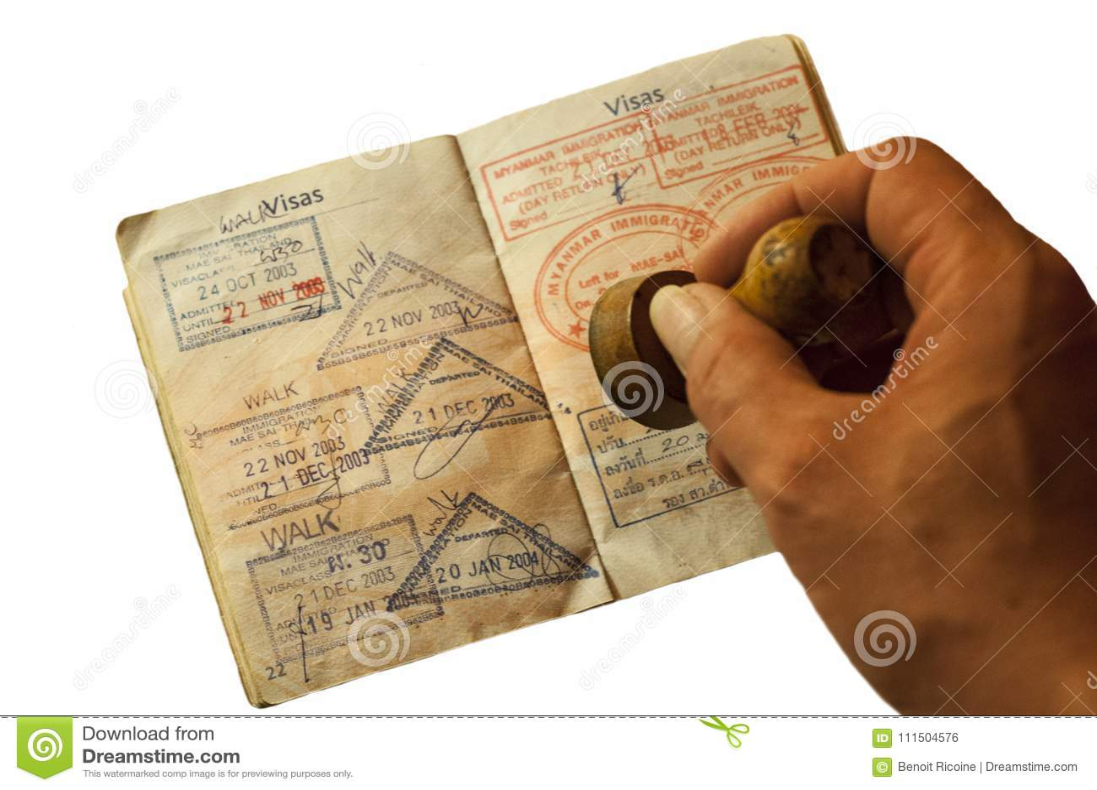 Paszport i wizy od Tajlandia i Myanmar