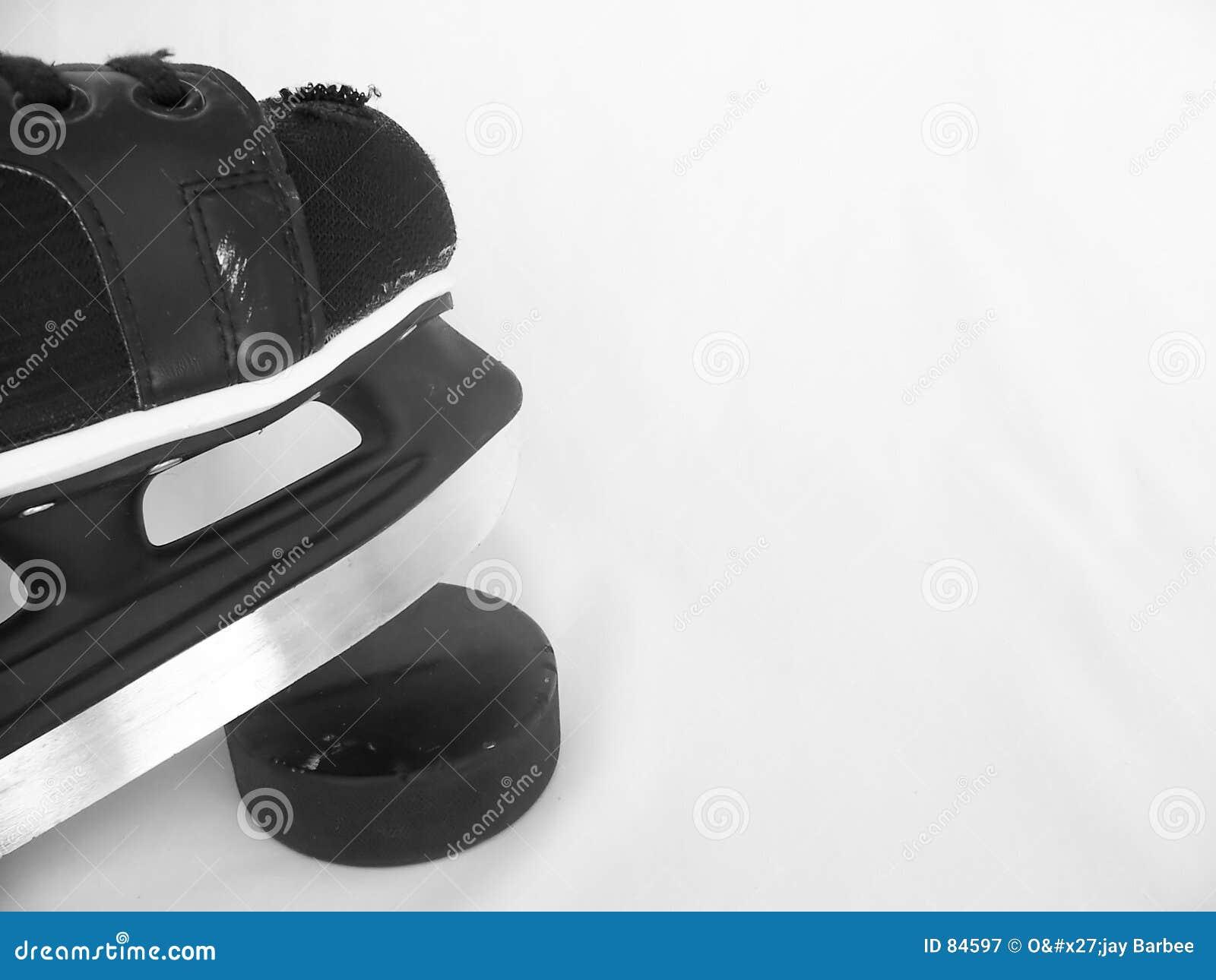 Patín y duende malicioso del hockey