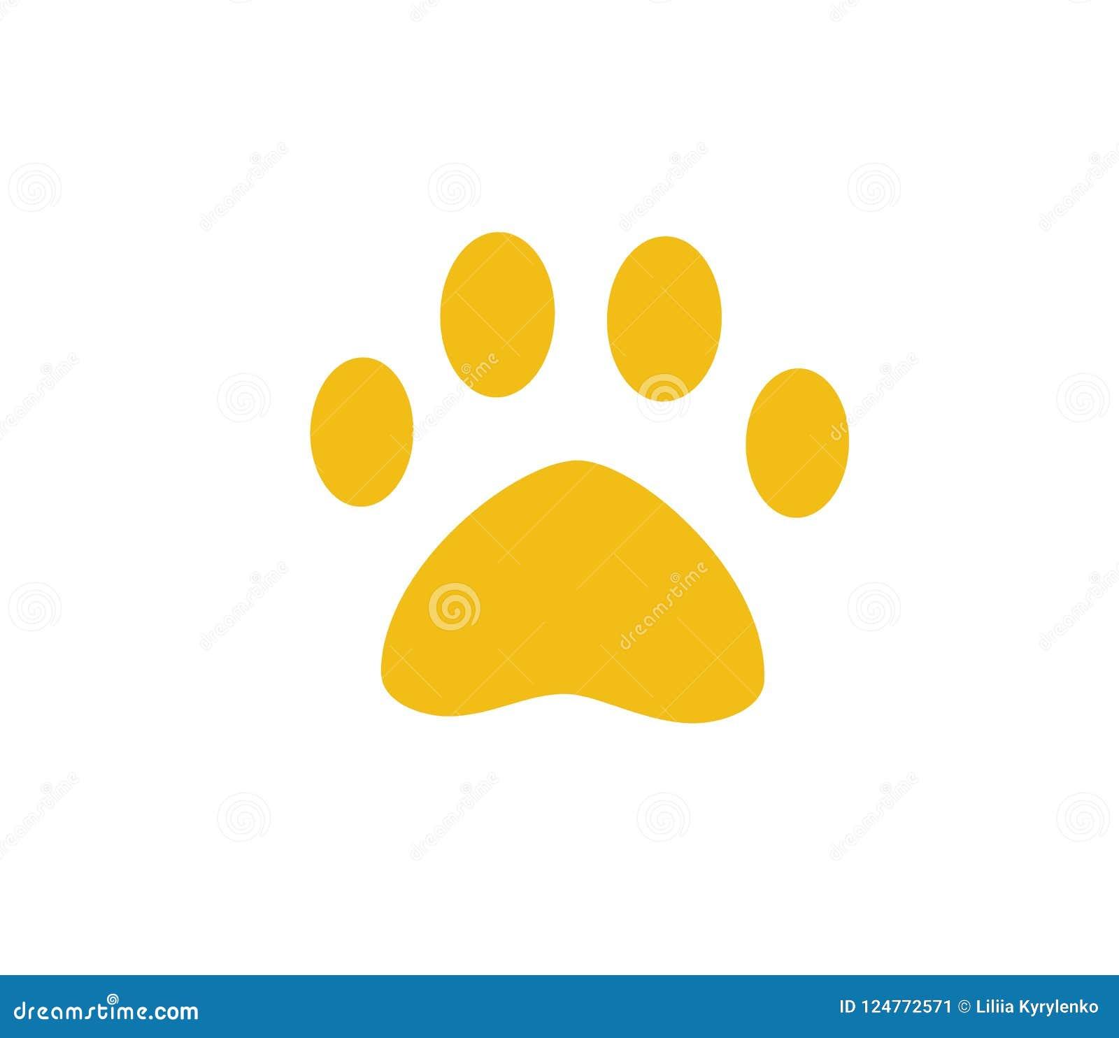 Pata Do Cao Ou Do Gato Simbolo Do Animal De Estimacao Pegada