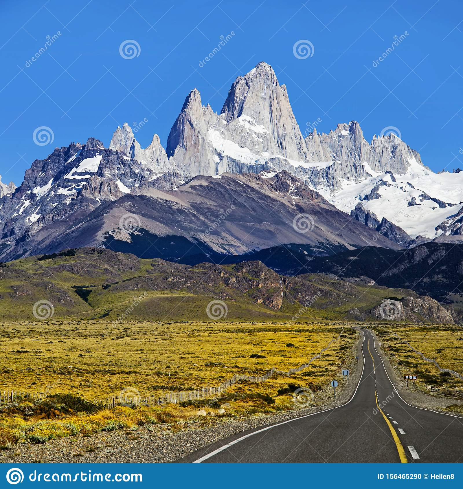 Patagonia South America >> Patagonia Mountains Argentina South America Stock Photo