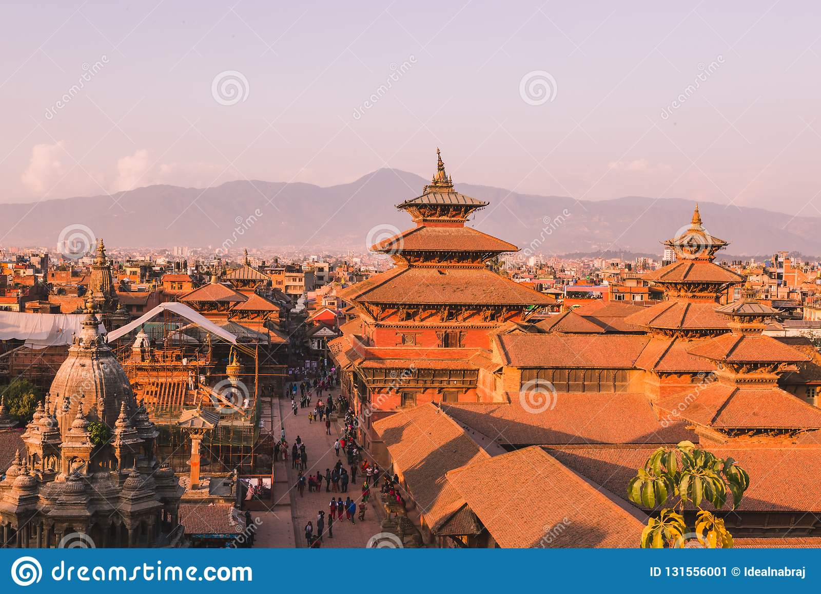 Patan świątynia, Patan Durbar kwadrat lokalizuje przy centre Lalitpur, Nepal Ja jest jeden trzy Durbar kwadrata w