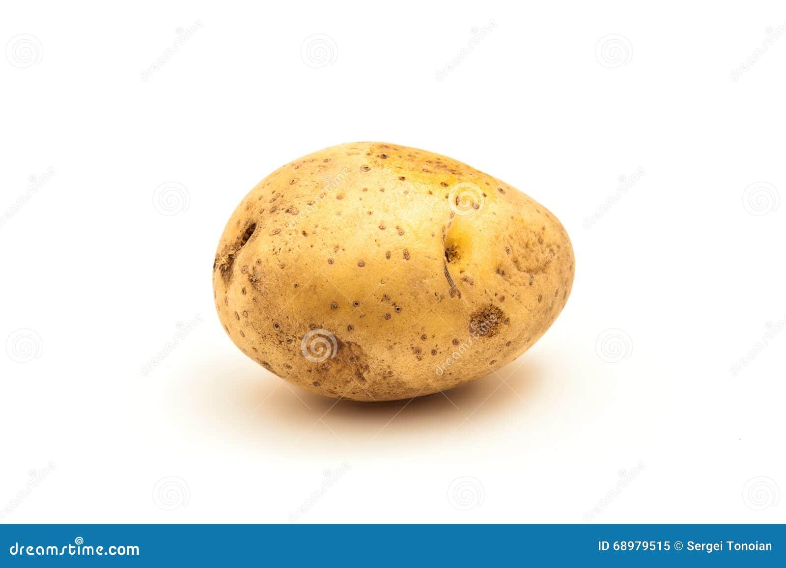 Patata aislada en blanco