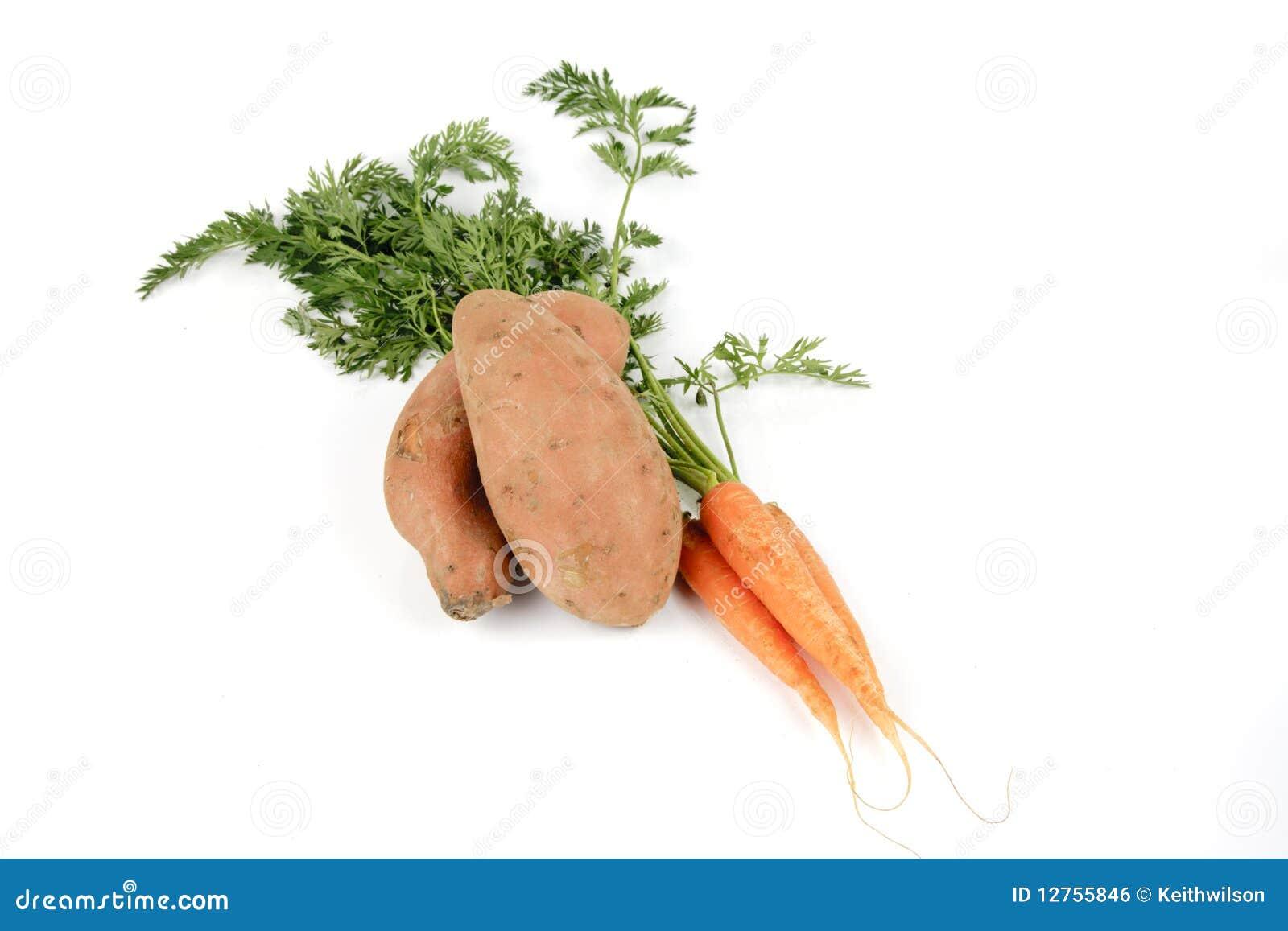 Patata dolce e carote