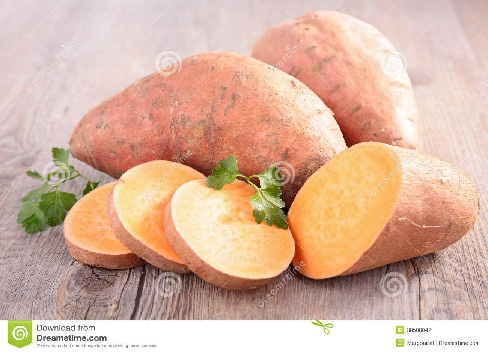 Patata dulce cruda
