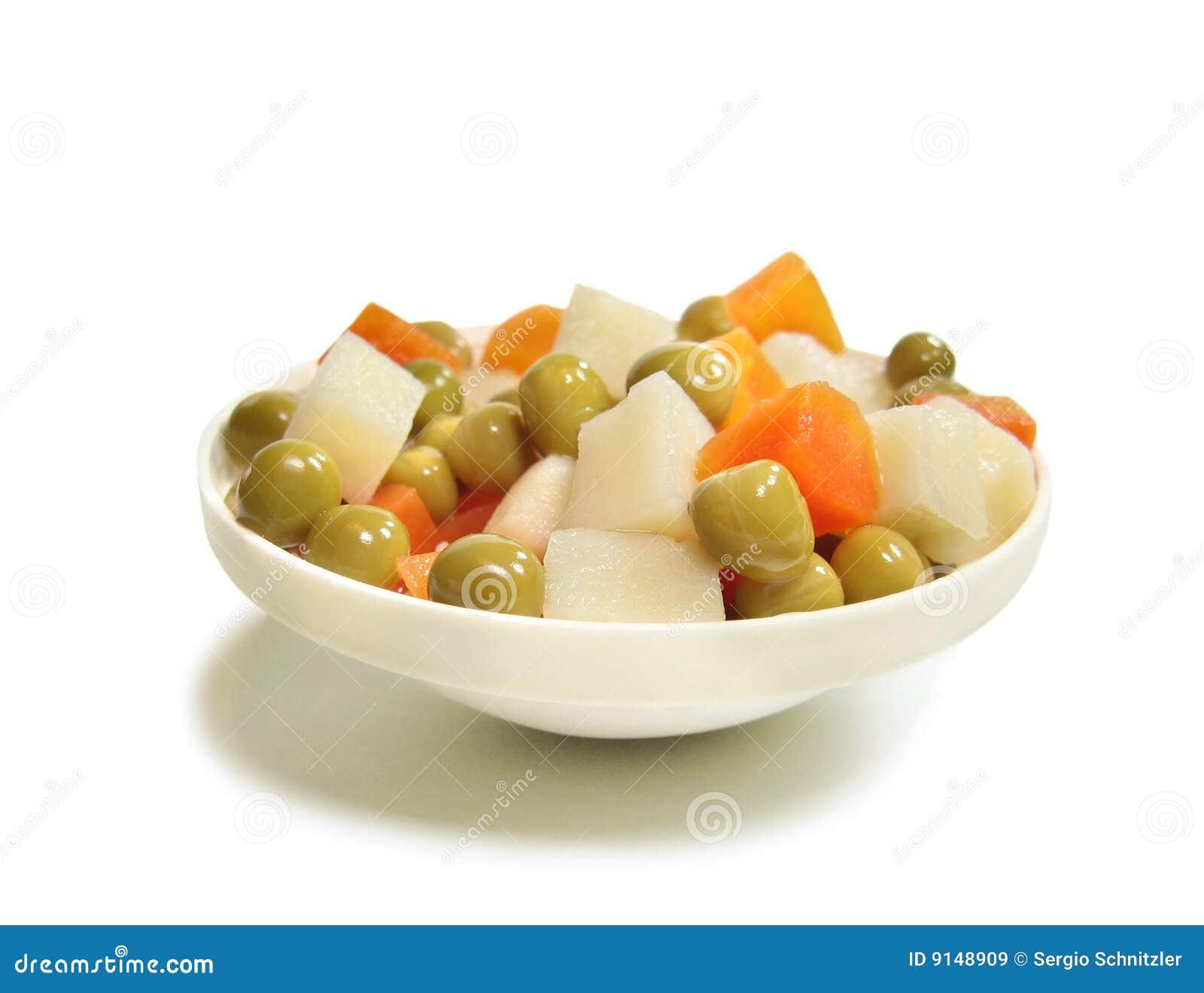 Patata, zanahoria y guisante