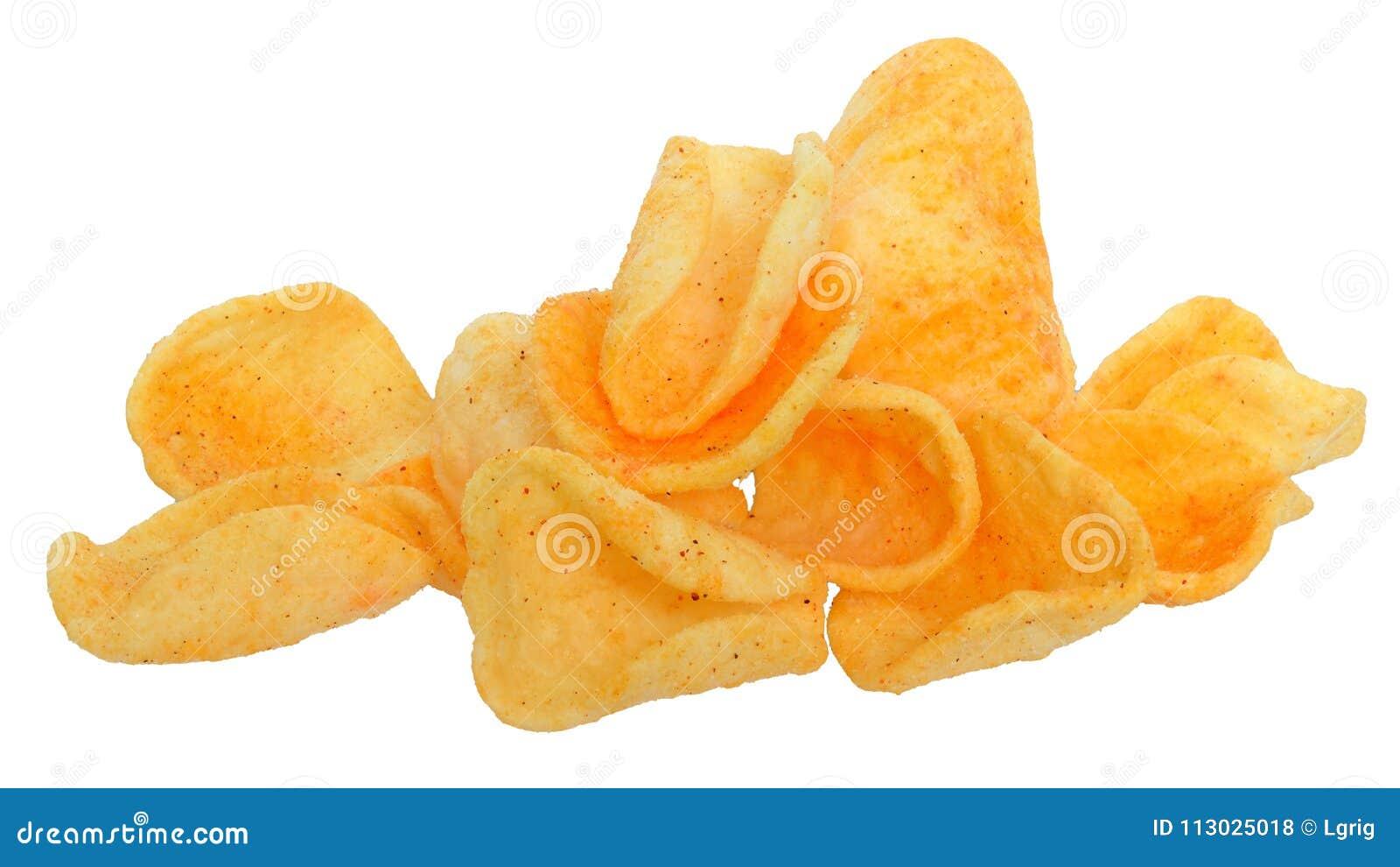 Patatas fritas isotated