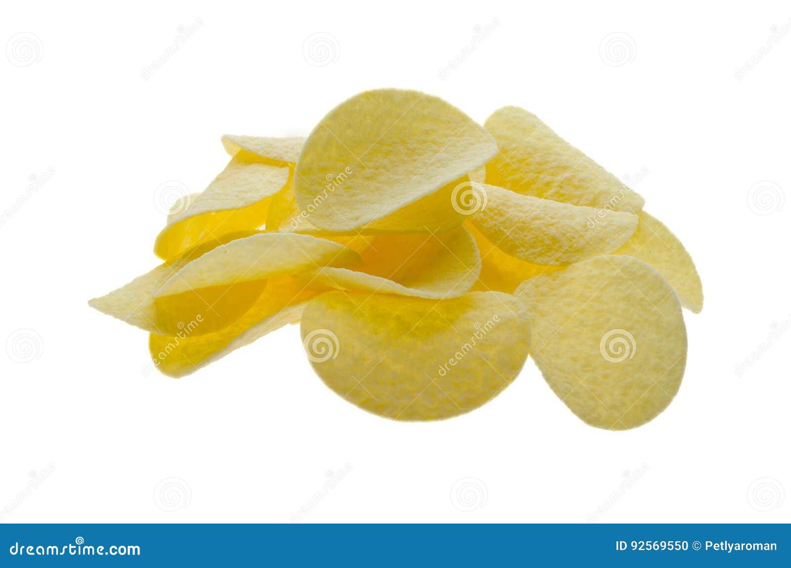 Patatine fritte su una priorità bassa bianca
