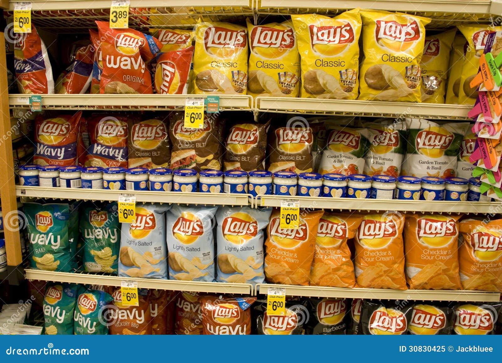Patatine fritte in supermercato