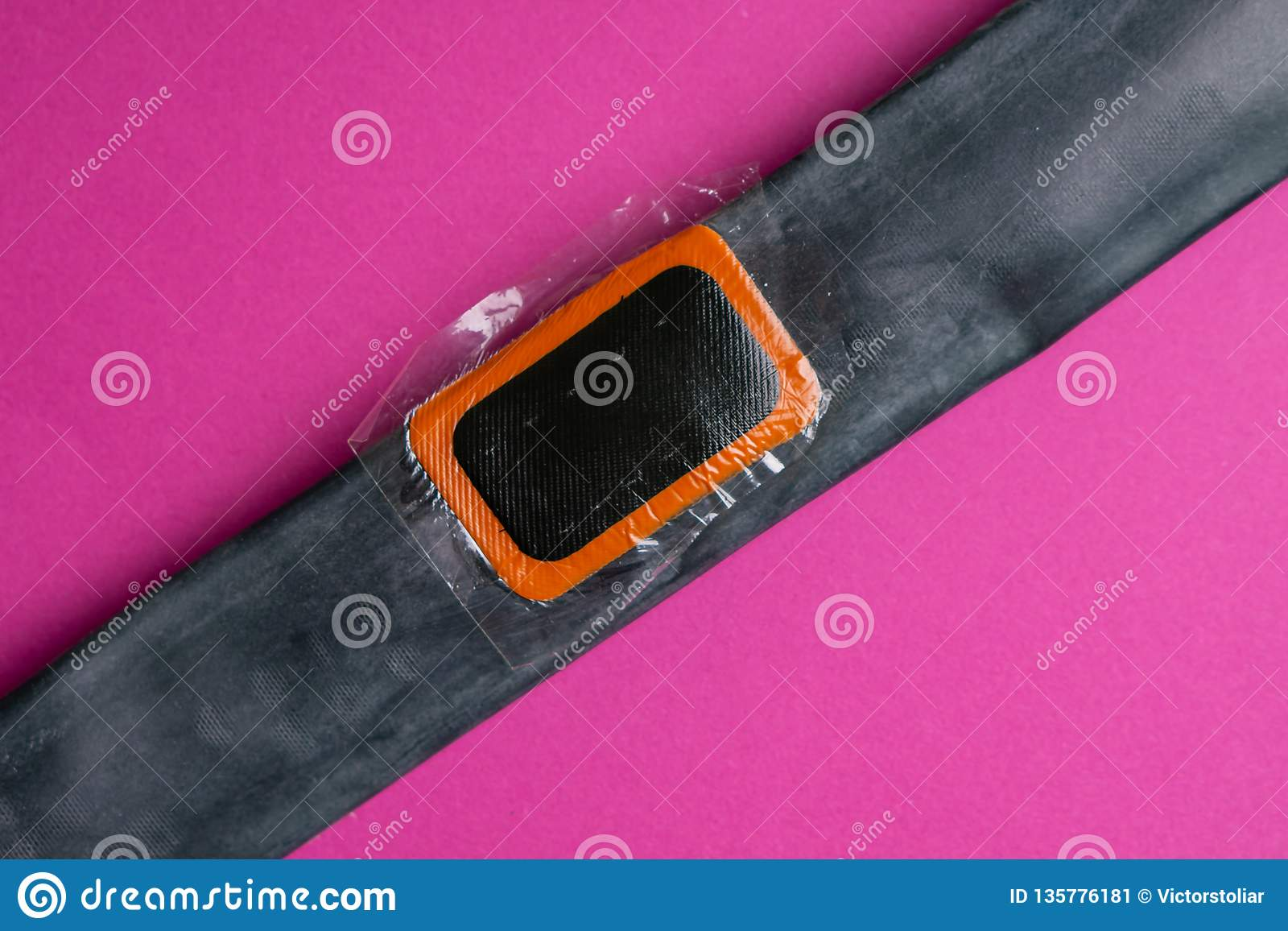 Bicycle Repair Kit, Wheels Camera On Wooden Background