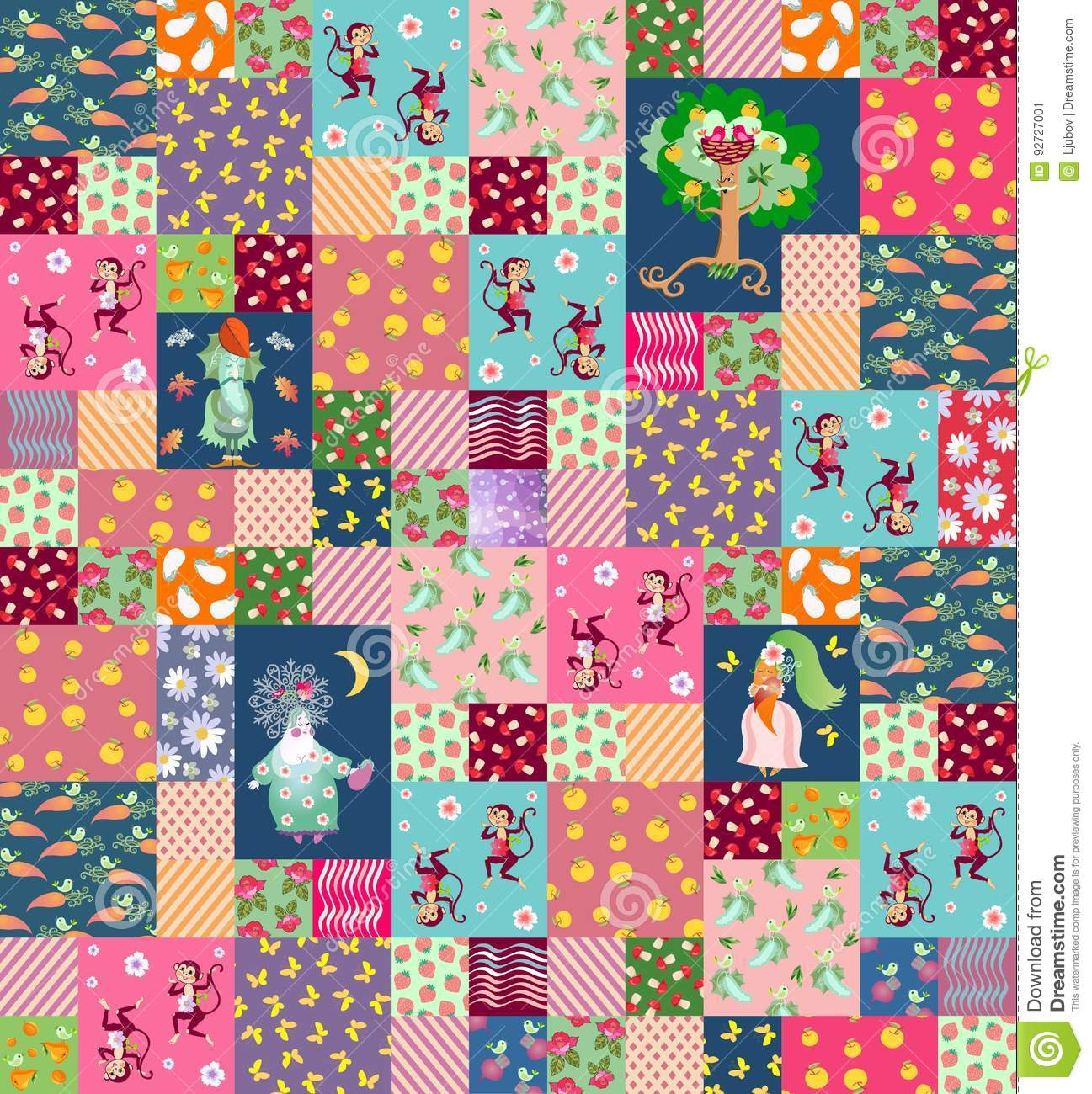 patchwork background patchwork background with cute cartoon characters for 6079