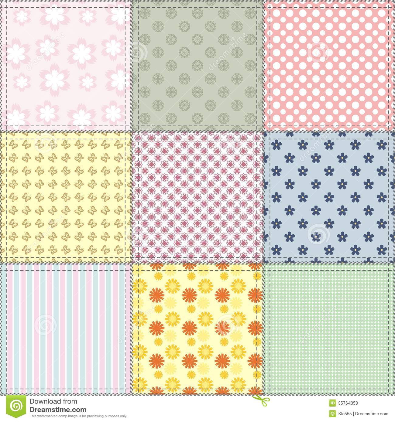patchwork background patchwork background with different patterns royalty free 4596