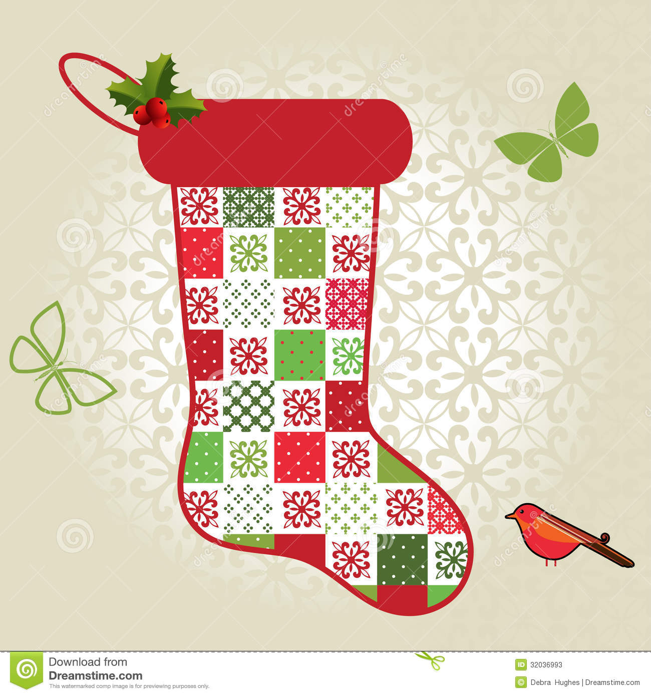 Patchwork Christmas Stocking Pattern