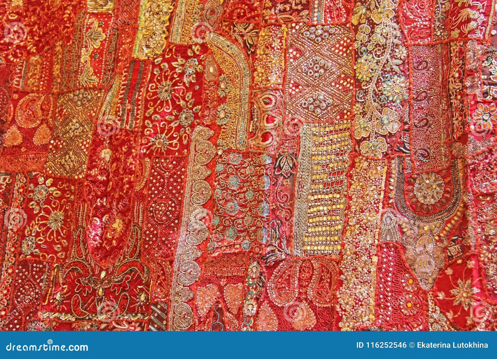 Patchwork de l indium Places colorées par broderie d Inde La MU intelligente