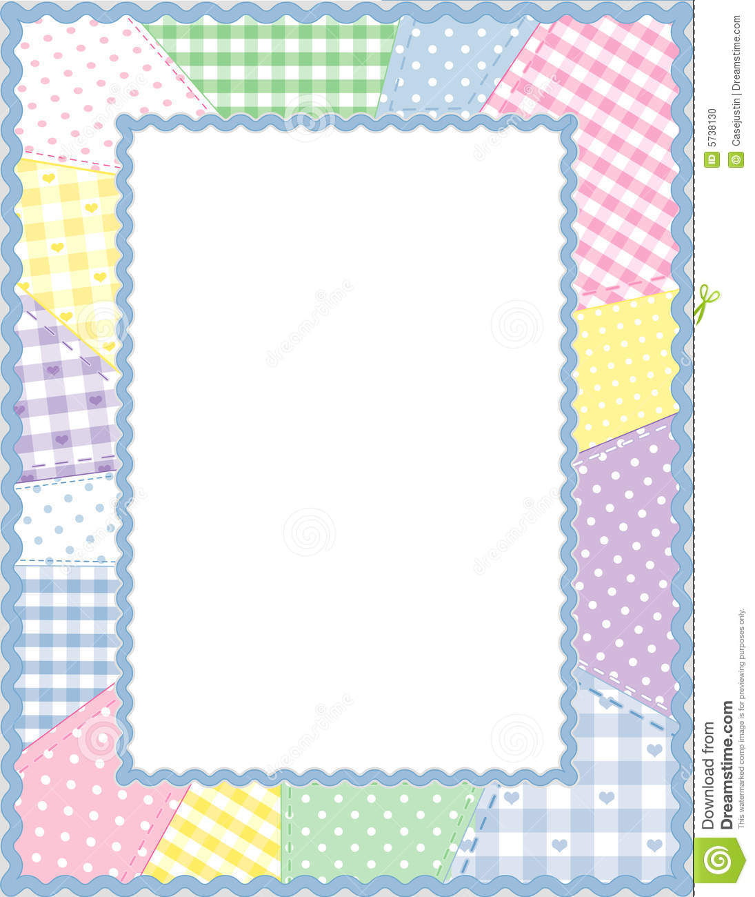 Patchwork Frame Pastels Stock Photo Image 5738130