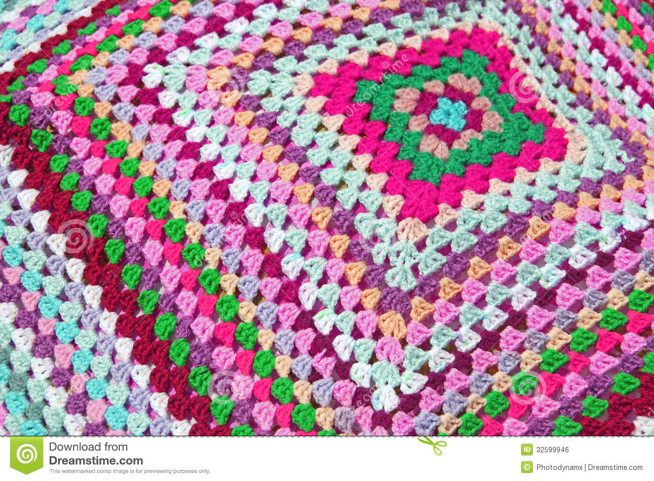 Patchwork knitted blanket stock photo. Image of colourful - 32599946