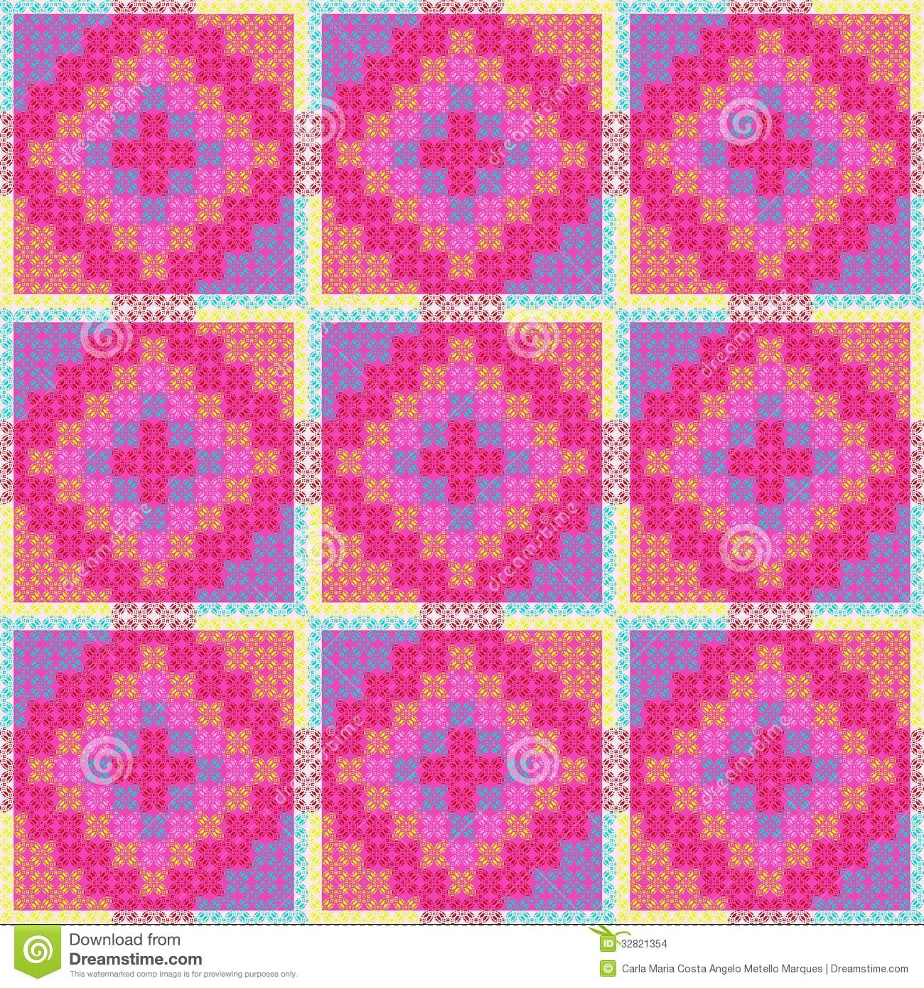 Patchwork Pattern Stock Images - Image: 32821354