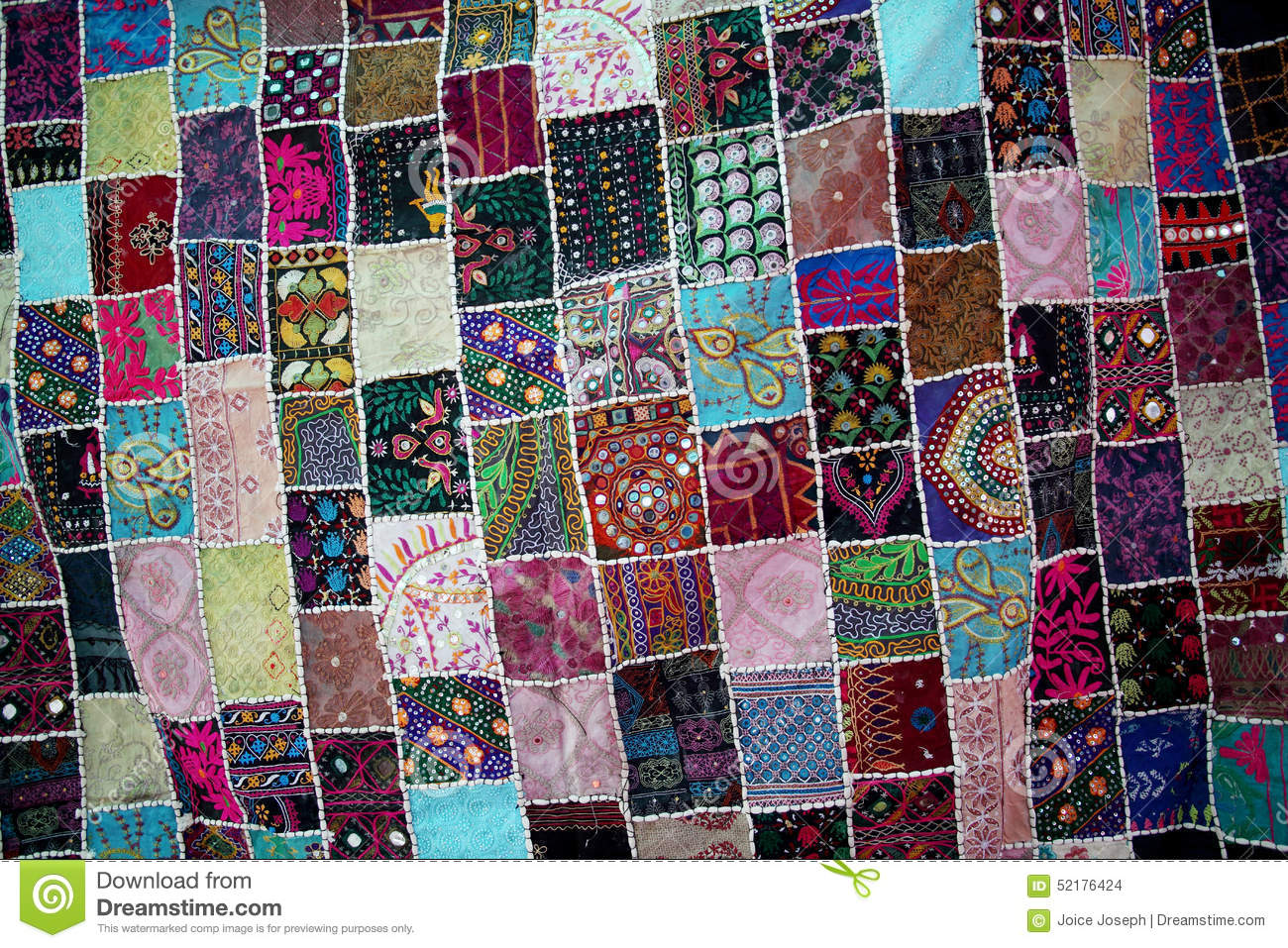 Patchwork Quilt For Backgrounds Stock Photo Image 52176424