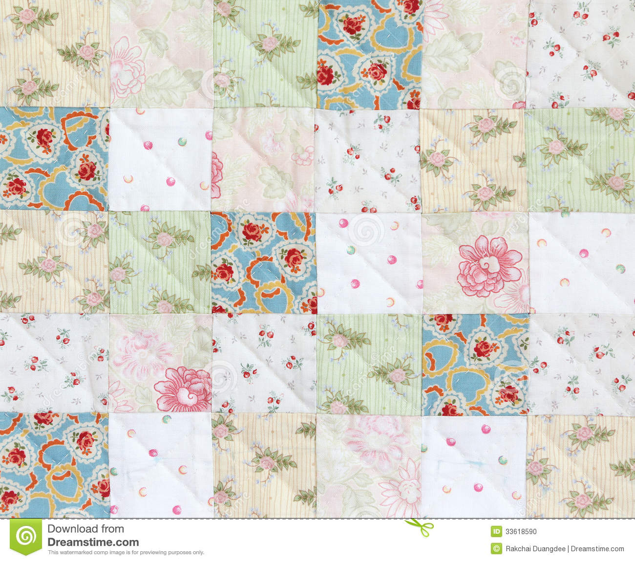 Patchwork Quilt Pattern Stock Photo Image 33618590