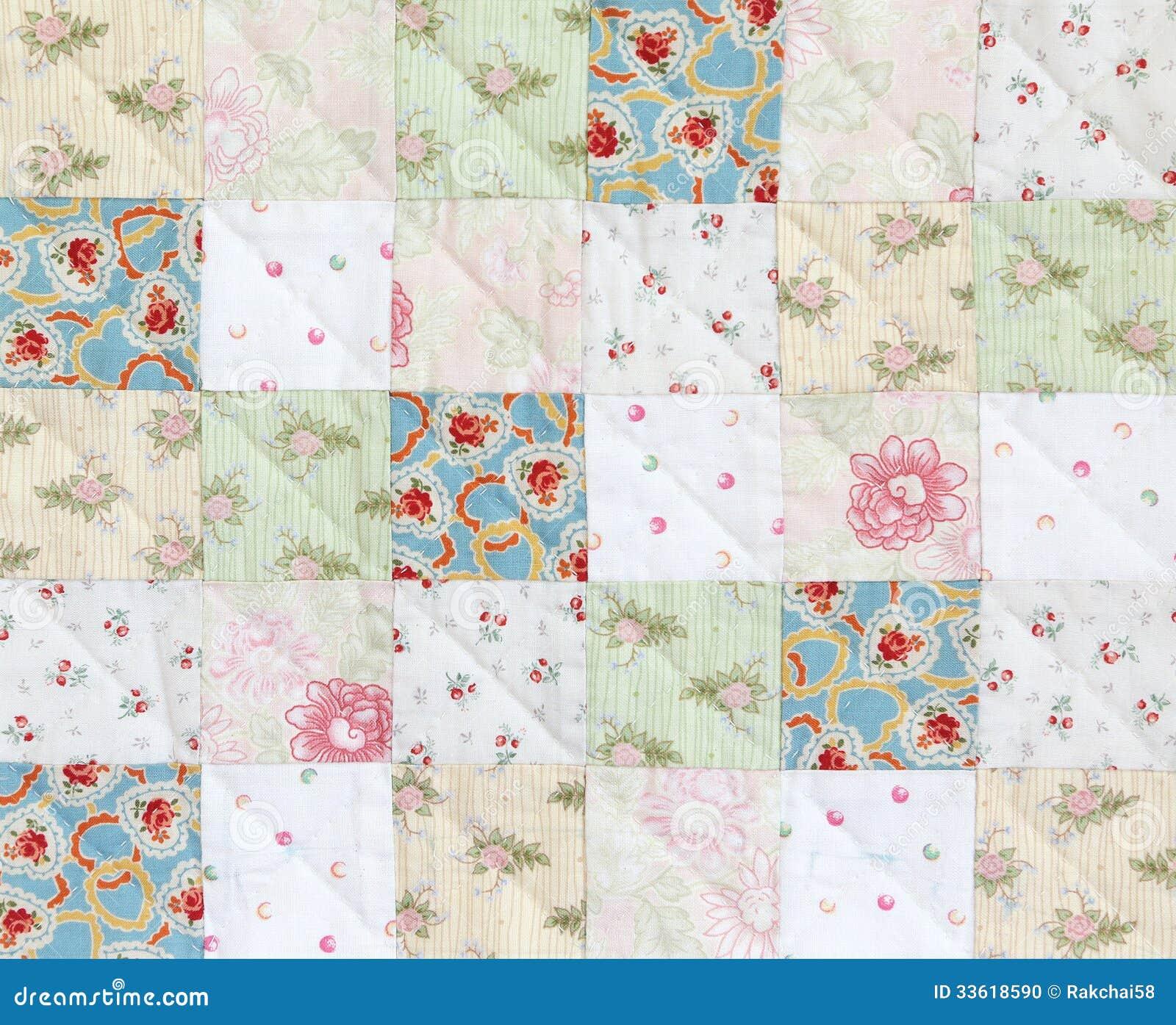 Patchwork Square Quilt Patterns: Patchwork Quilt Pattern Stock Photo