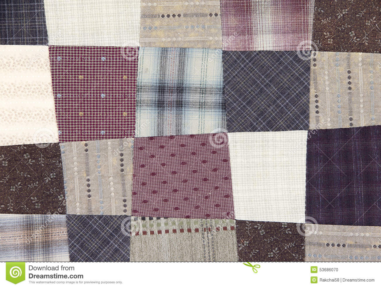 Patchwork Quilt Pattern Stock Photo - Image: 53686070