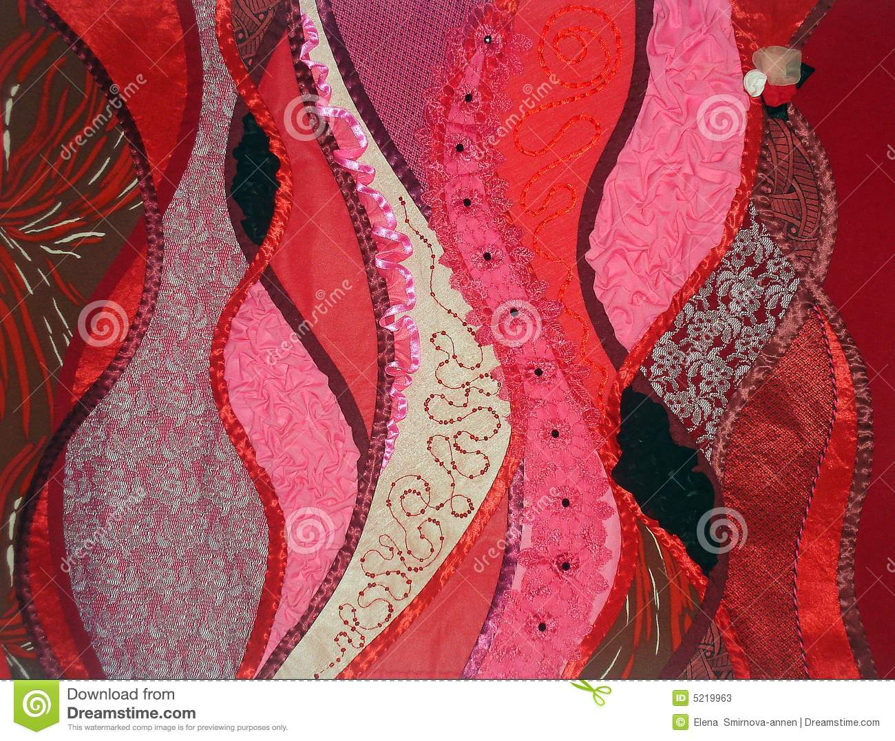 Patchwork red fantasy stock image image of pattern lace
