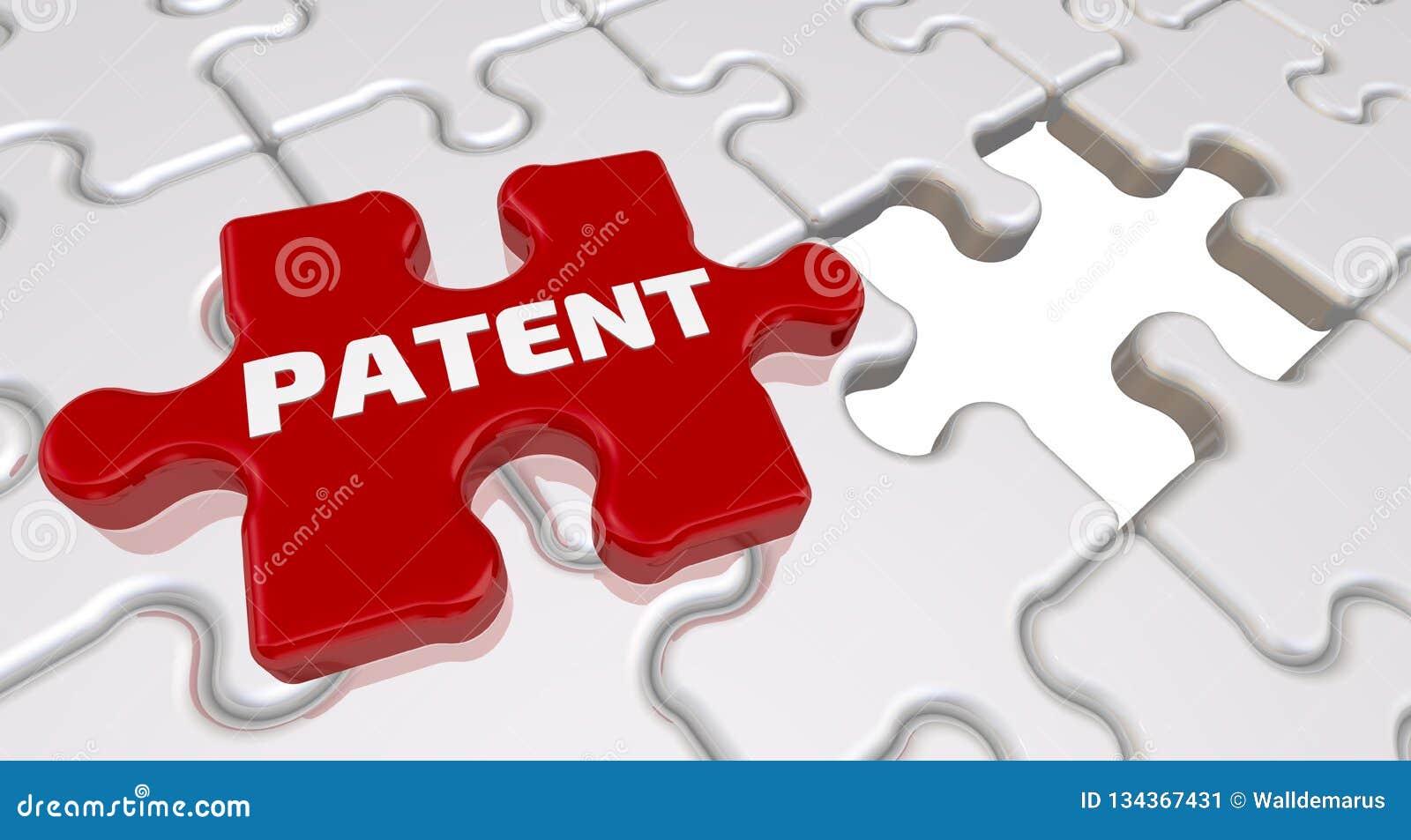 Patent Inskrypcja na brakującym elemencie łamigłówka