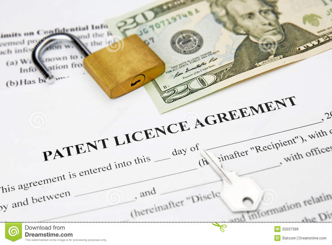 Patent licence agreement stock image image of license for Royalty free license agreement template