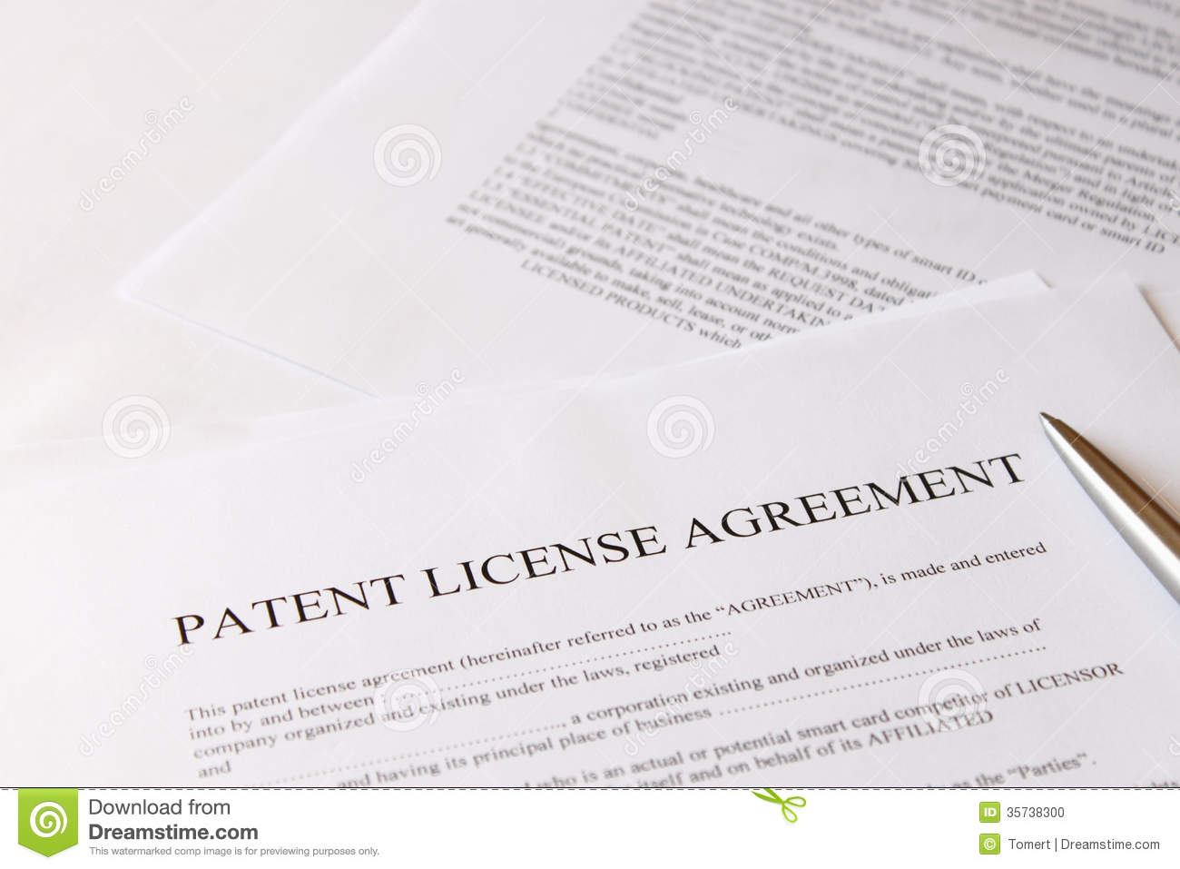 Patent License Agreement Stock Photo Image Of Information 35738300