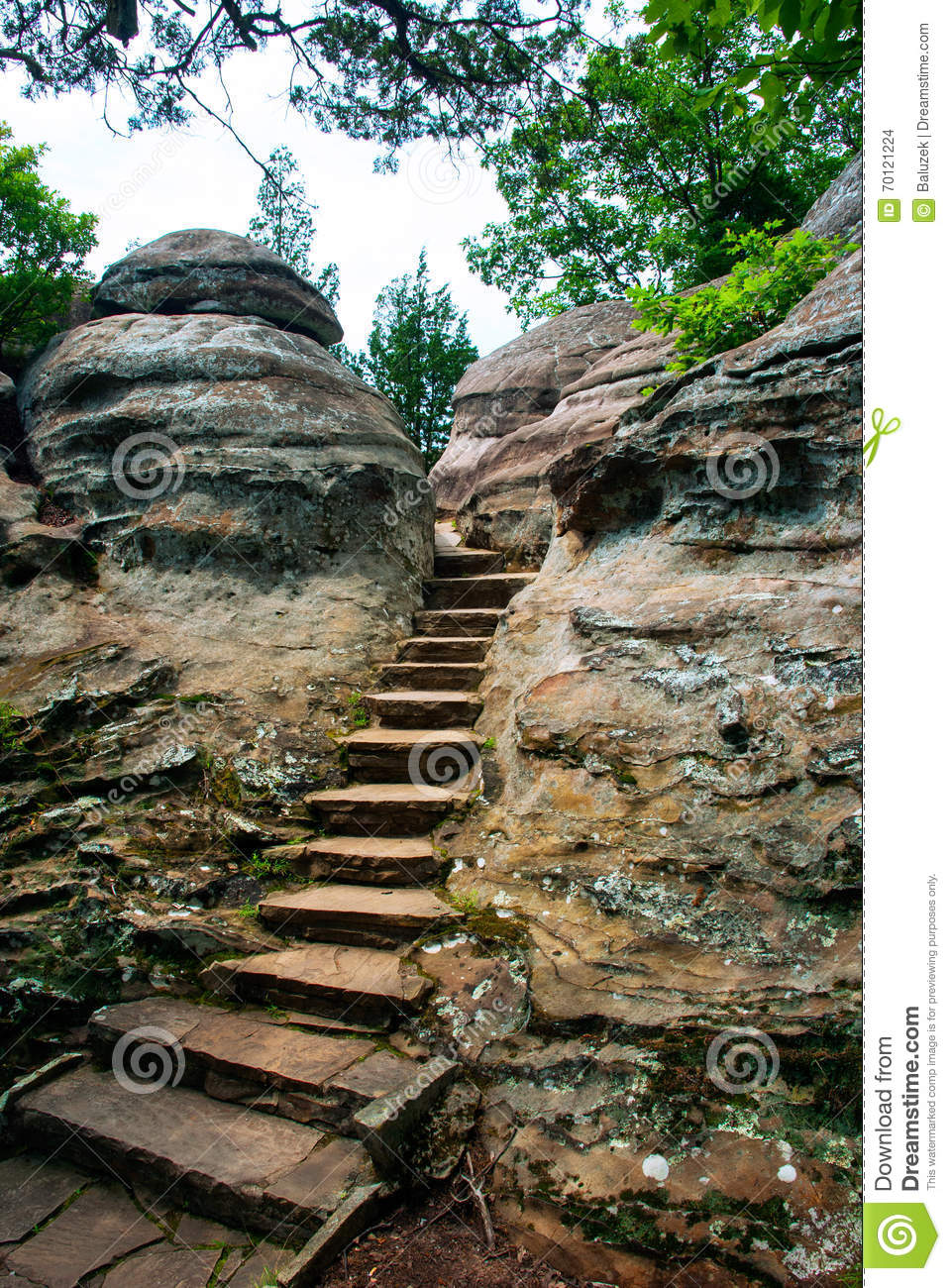 Path In Rocks, Garden Of The Gods Wilderness, Illinois