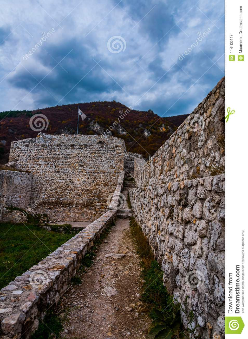Path in the fortress of Travnik