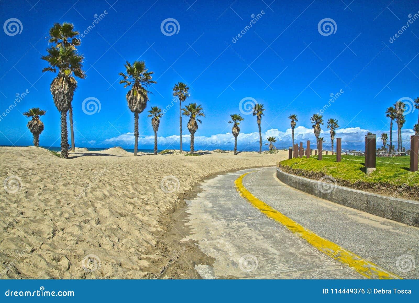 Path to beach Mandalay Bay California