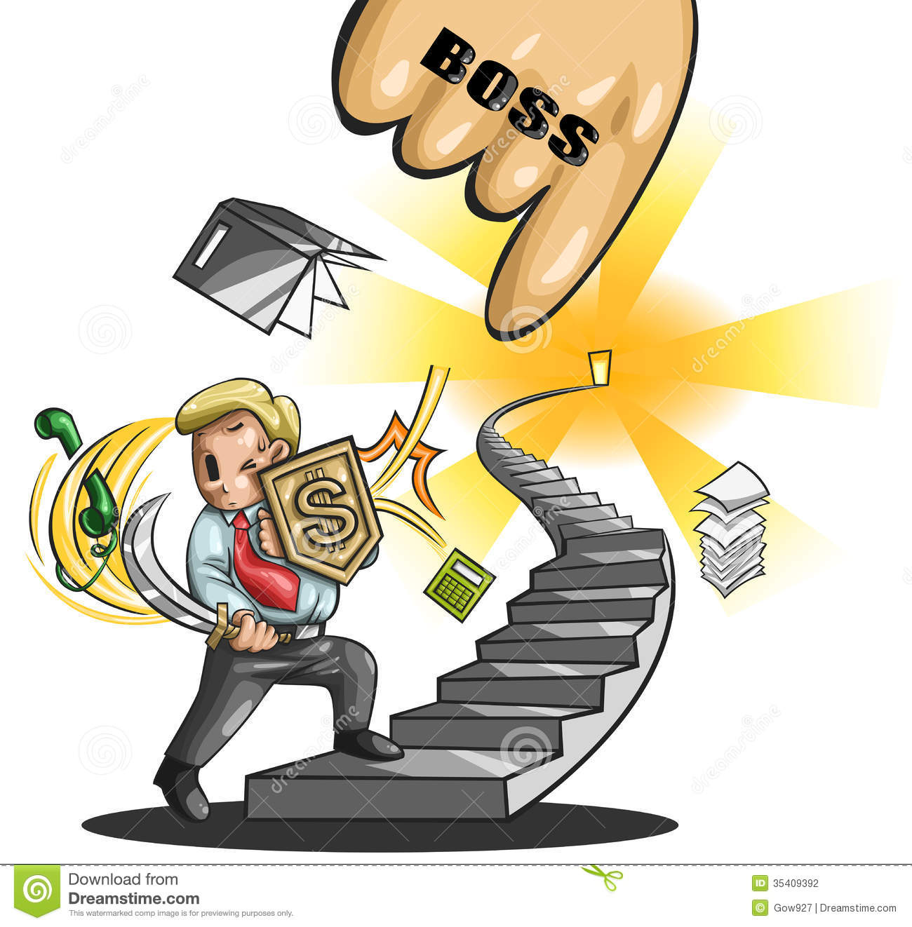 path to a great salary man  vector  stock vector