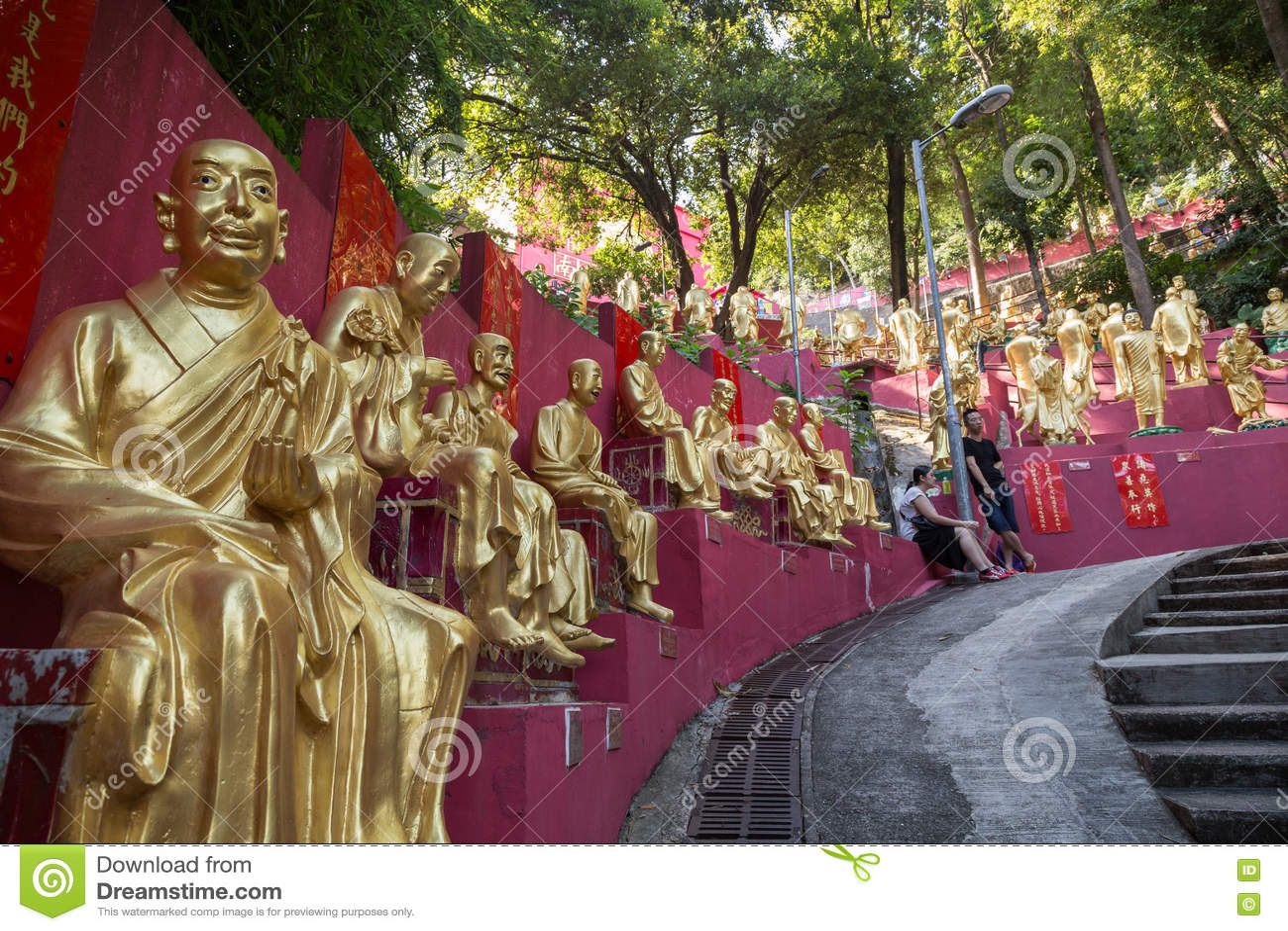 Path to the Ten Thousand Buddhas Monastery in Hong Kong