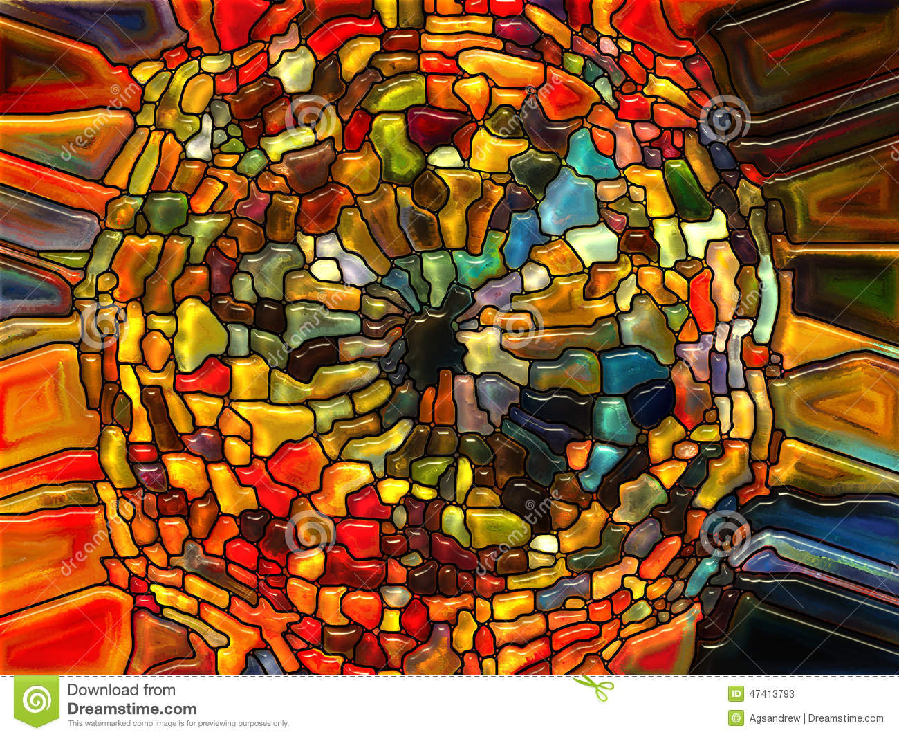 Paths of stained glass stock illustration image 47413793 for Arts and crafts glass