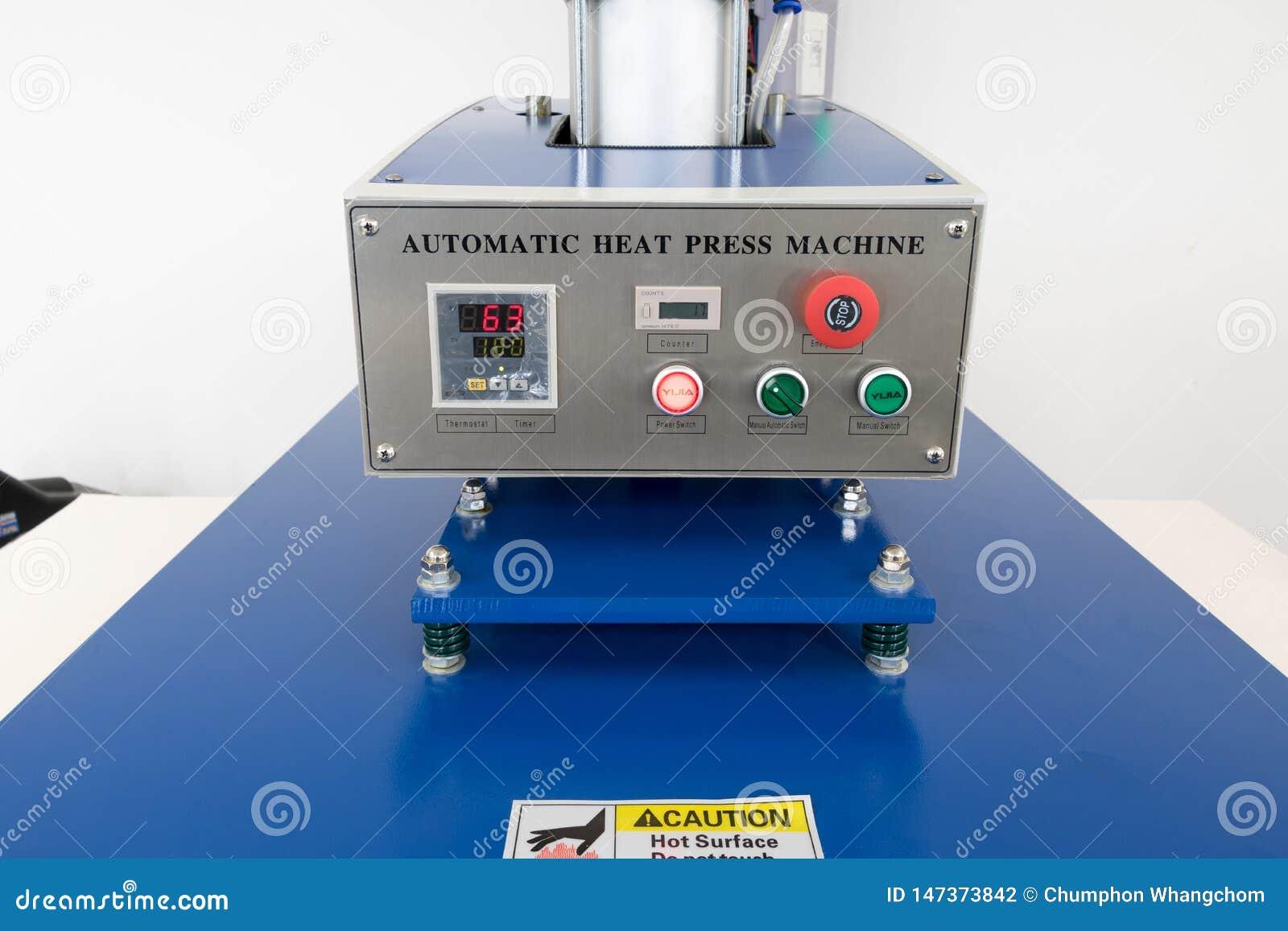 Pathumthani, Thailand - Feb 27, 2017 : Large heat press machine for fabric business in printing factory at Lumlukka, pathumthani