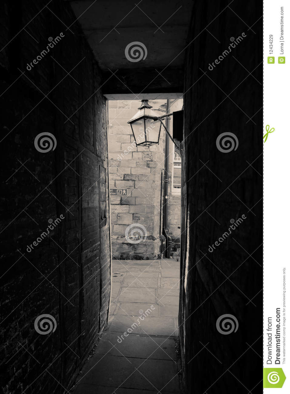 Pathway alley architecture stock image. Image of ...