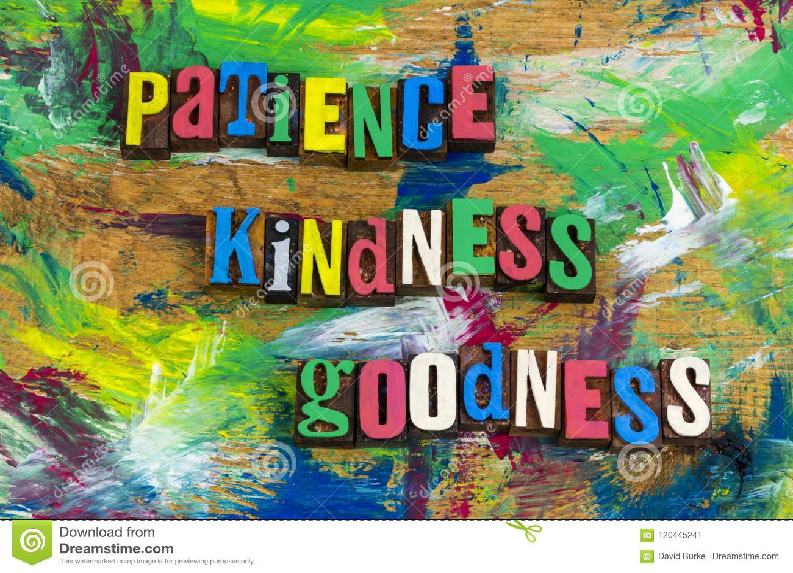 Patience kindness goodness forgiveness