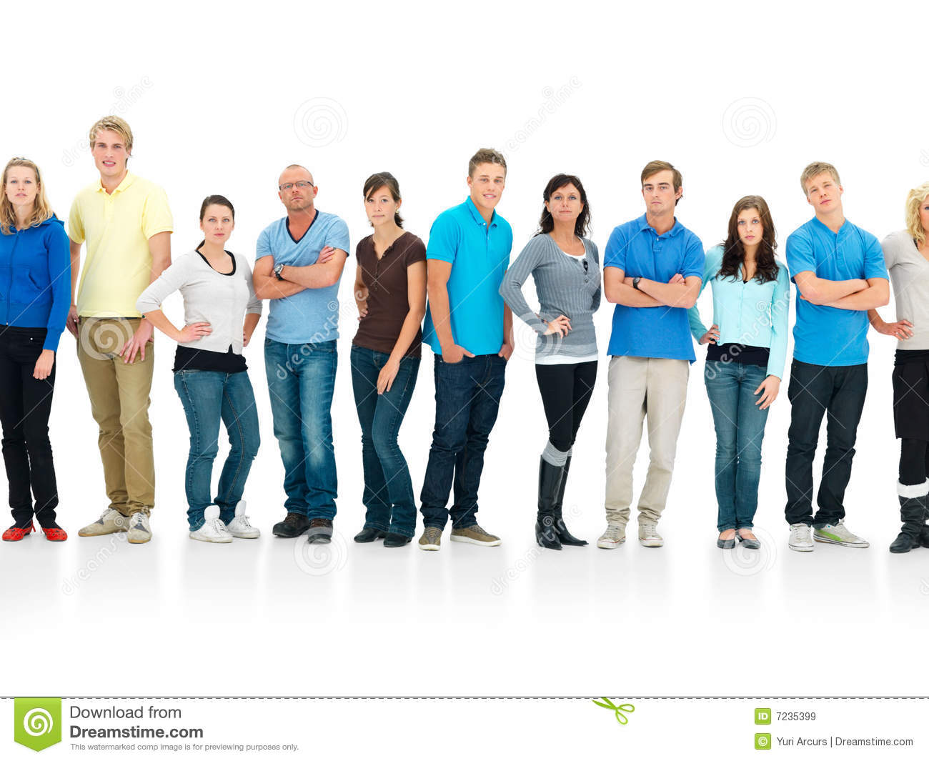 Royalty Free Stock Images: Patience - People standing in a queue ...