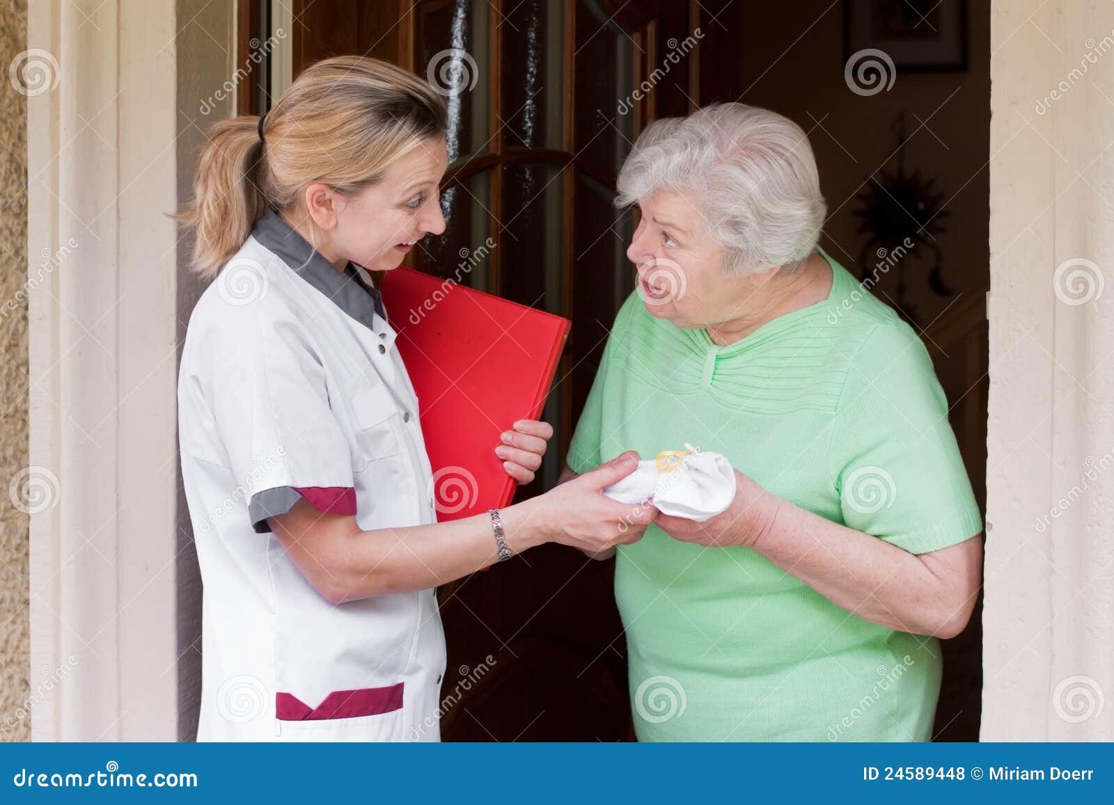 Patient besök för home sjuksköterska