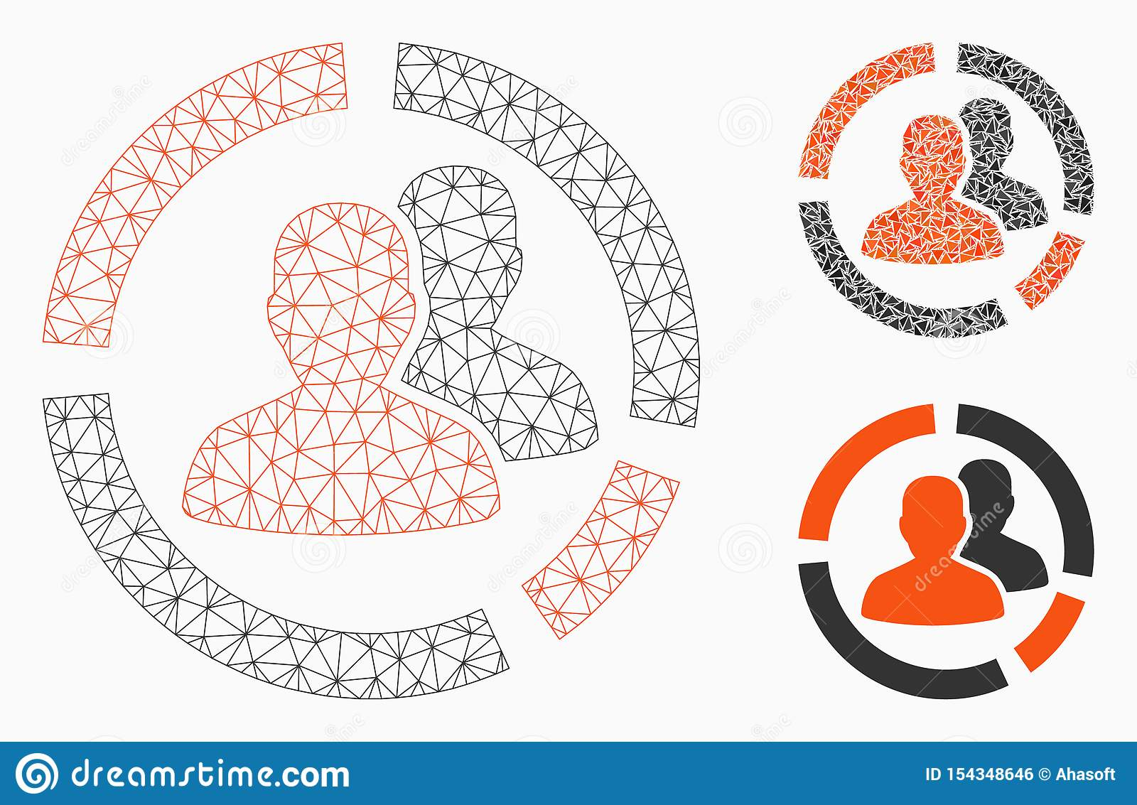 Patient Diagram Vector Mesh Wire Frame Model And Triangle Mosaic Icon Stock Vector