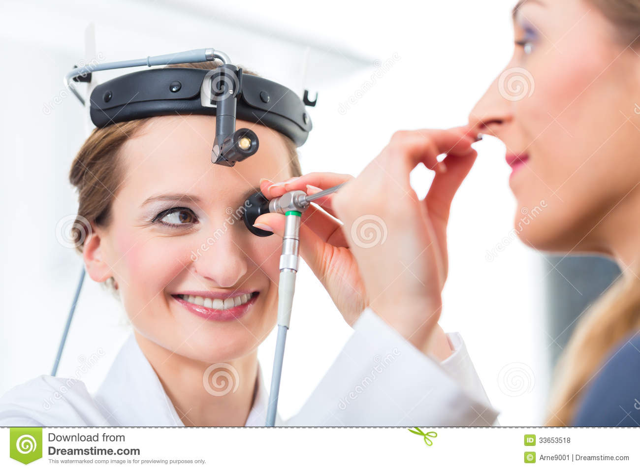 Patient In A Examination By Doctor In Clinic Stock Photo