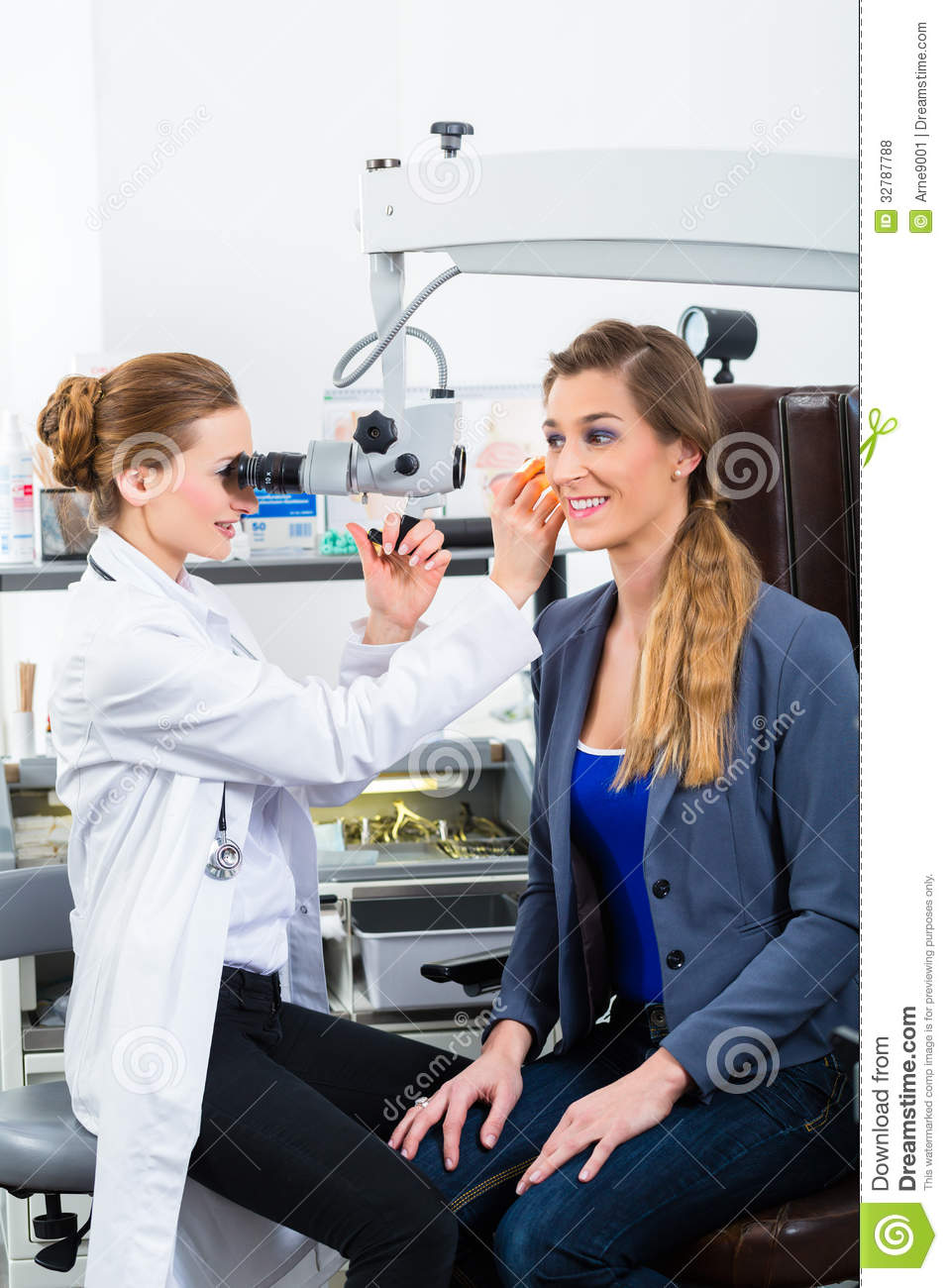 Patient At Examination In Doctor S Office Stock Image