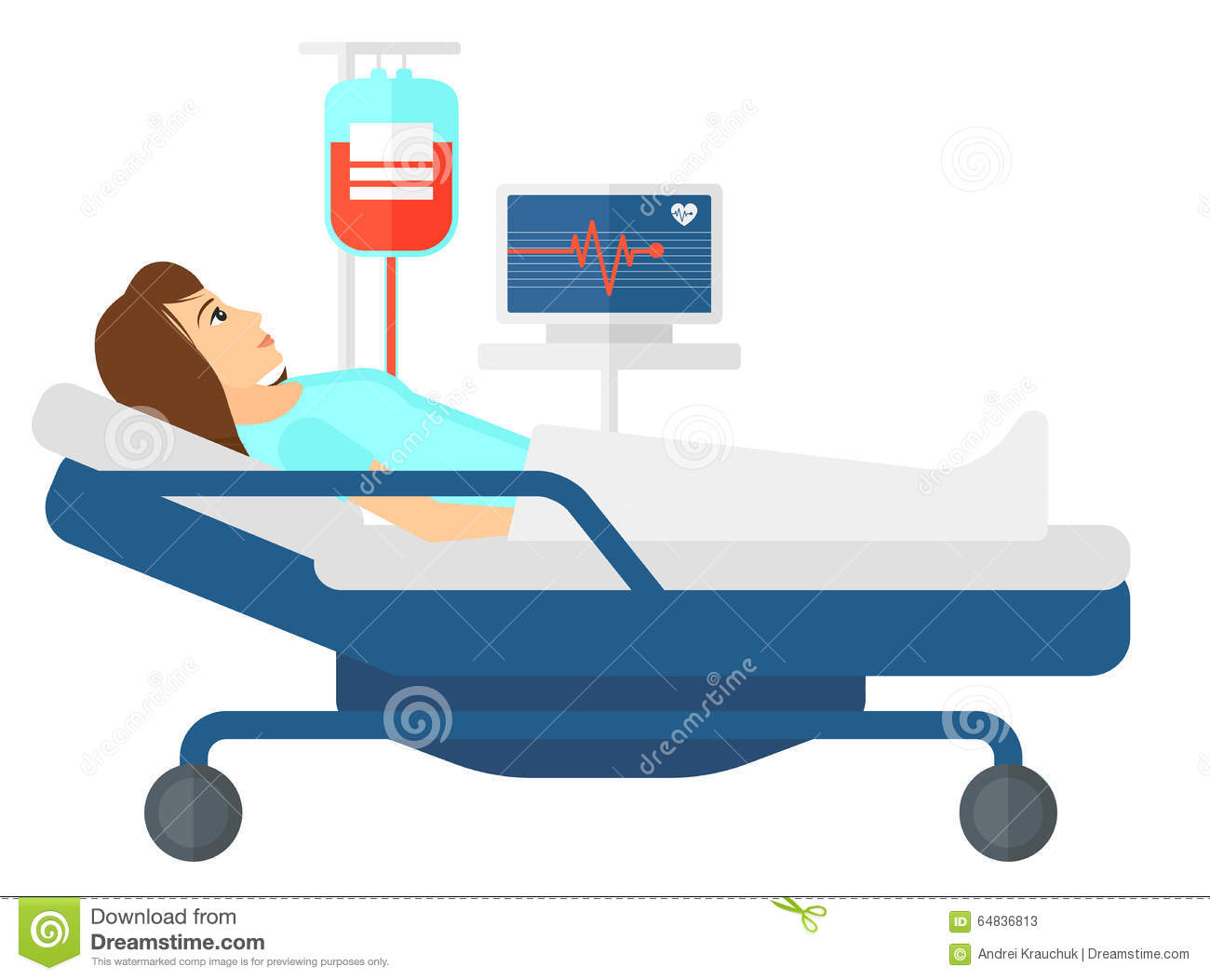 Water bed for patients - Patient Lying In Bed