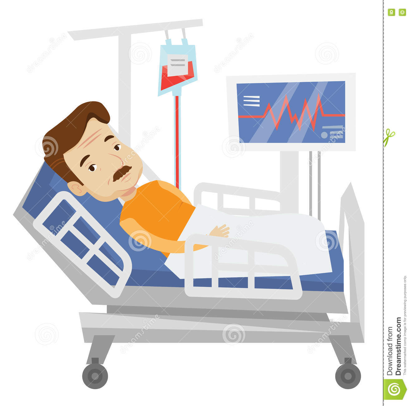 hospital bed illustration royaltyfree illustration