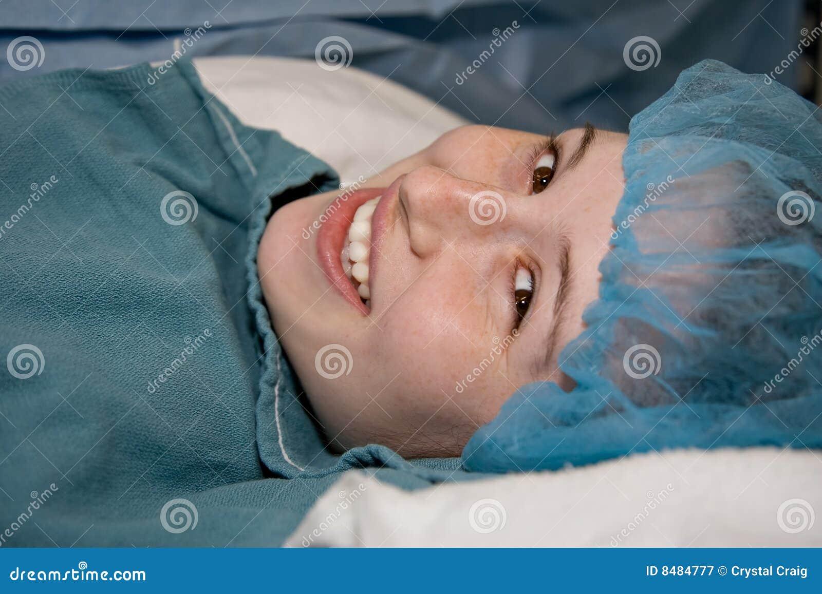 Patient médical heureux