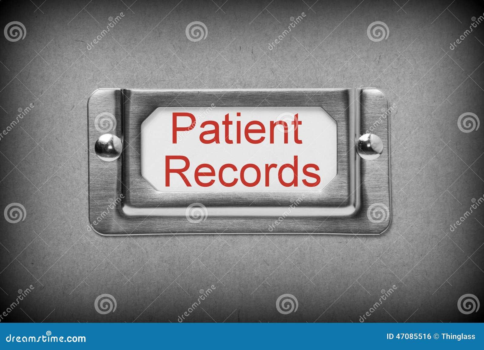 Patient notiert Fach-Datei