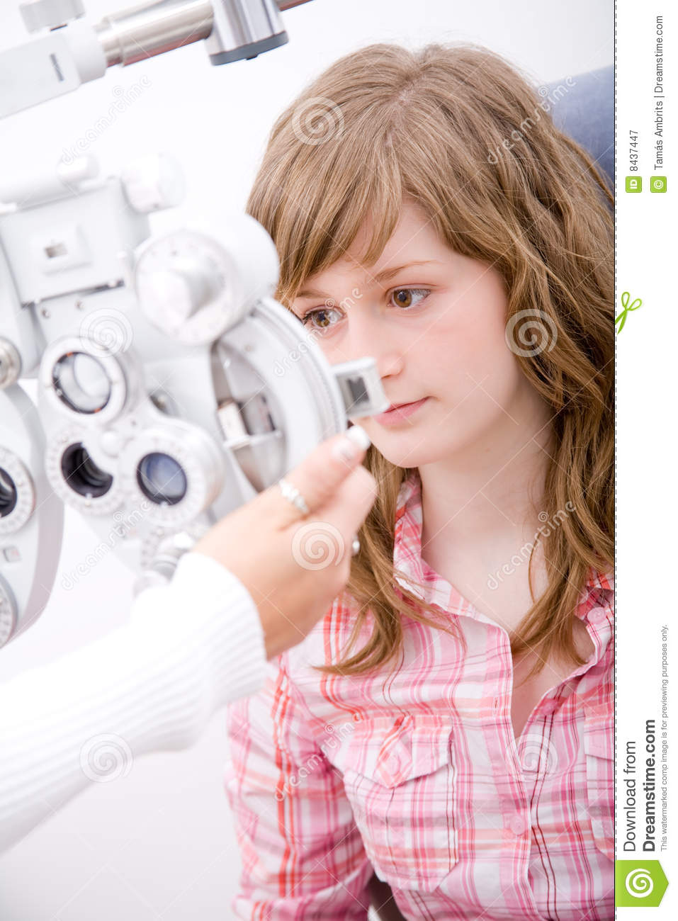 Patient in ophthalmology labor