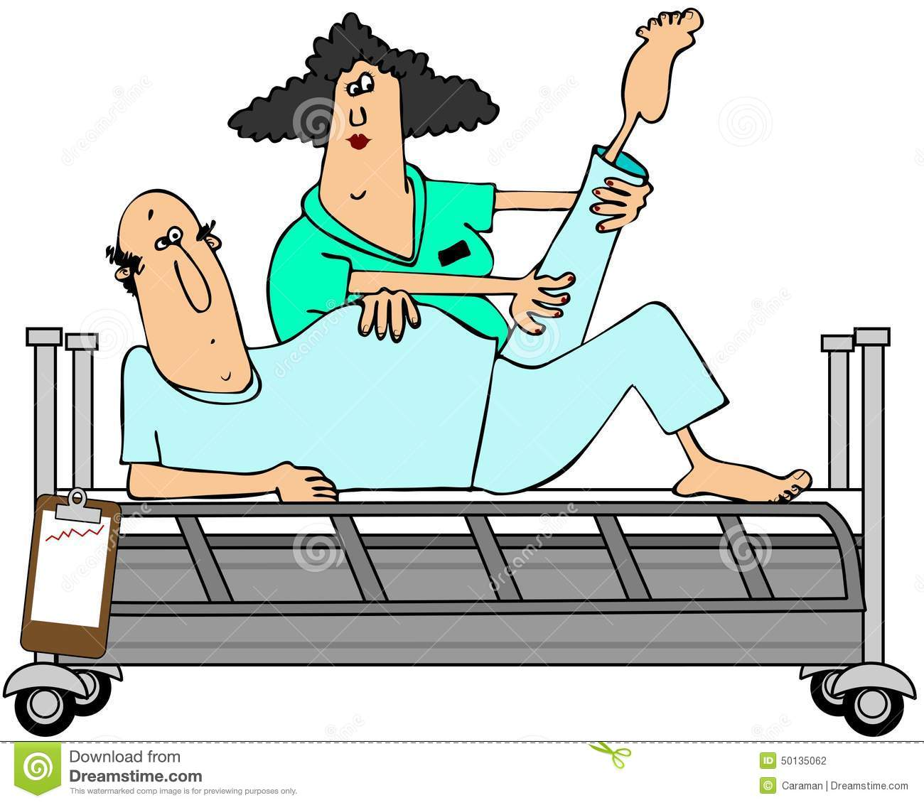 Patient In Rehab Stock Illustration - Image: 50135062