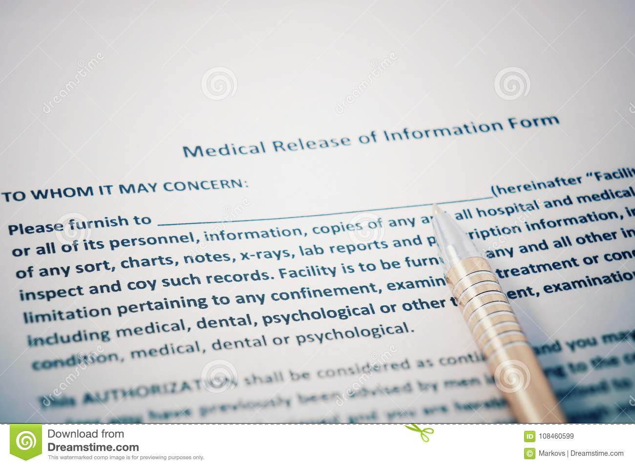 Download Patient Release Of Information Form With HIPAA Regulations  Documents. Medical Release Of Information Form